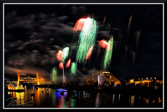 Fireworks_7704 (bjarne.winkler) Tags: 2017 new year firework over sacramento river with tower bridge ziggurat building background