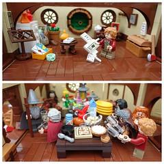 Bag End - Interior (-Balbo-) Tags: lego moc bauwerk creation lordoftherings herr der ringe hobbit shire auenland bag end beutelsend bilbo frodo balbo hobbiton hobbingen green dragon inn sandyman´s mill