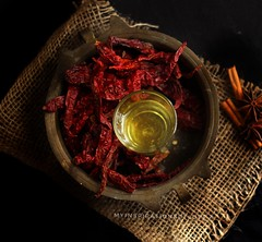 My love for moody shots continue... Ingredients shot for chilli oil (anu.girish) Tags: foodphotography foodstyling moody canoneos1200d canon darkphotography lowlightphotography koreancuisine chilli red spices ingredientsshot flatlay