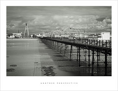 Another perspective (Parallax Corporation) Tags: blackandwhite sony fe 85mm f18 sonya7rii southportpier seaside mono millenniumbridge promenade boardwalk