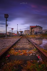 Old Railway Station (paulosilva3) Tags: progreyfiltersusa progrey usa canon manfrotto lowepro nd 128x longexpos sunset twilight train station railway trains espinhovouga portugal