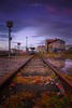 Old Railway Station (paulosilva3) Tags: progreyfiltersusa progrey usa canon manfrotto lowepro nd 128x longexpos sunset twilight train station railway trains espinhovouga portugal