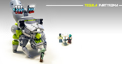 Tequila Partykoma (Brixnspace) Tags: marchikoma think tank thinktank tequila tequilatron lego moc walker multiped robot