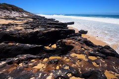 Coffee Rocks 02 (Paul Hollins) Tags: aus australia lakecathie newsouthwales nikond750 seascape midnorthcoast rocks rockformations