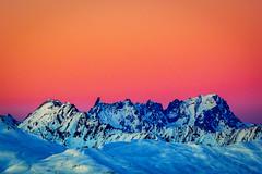 Hyperreality (nic_r) Tags: mountain mountains alps sunset snow landscape dentdugeant aiguillederochefort rochefort ridge rochefortridge grandesjorasses grandes jorasses nikon d500