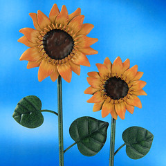 Artificial Summer (arbyreed) Tags: arbyreed artificial metal metalsunflower close closeup colorful fake