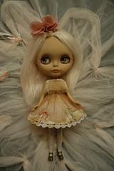 First photoshoot! (Primrose Princess) Tags: ooakblythe takara blythe doll palepinkalpacareroot customblythe obviouszebra thepumpkinbelle pink princess tulle primroseprincess dollydreamland