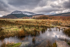 Winter land...Snowdonia x (Einir Wyn Leigh) Tags: landscape mountain walk pleasure isolated snow wales love home sky winter february reflection clouds light sunlight outside nikon river water gate path nationalpark uk britain
