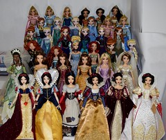 Disney Princess 17 Inch Limited Edition Dolls 2009-2017 (drj1828) Tags: disneystore disneyparks limitededition 17inch collectible groupphoto disneyprincess snowwhite tiana princess disney animated belle rapunzel merida cinderella ariel anna elsa aurora jasmine