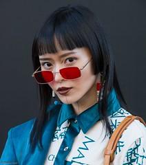 Model portraits outside London Fashion Week 2018. (stevebell) Tags: londonfashionweek lfw lfw18 thestrand thestore models portraiture posing