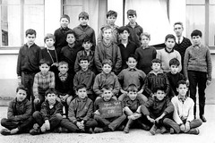 Class Photo (theirhistory) Tags: children kids boys school class form trousers shirt jumper wellies shoes bootsjacket