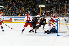 "Kansas City Mavericks vs. Allen Americans, February 24, 2018, Silverstein Eye Centers Arena, Independence, Missouri.  Photo: © John Howe / Howe Creative Photography, all rights reserved 2018 • <a style=""font-size:0.8em;"" href=""http://www.flickr.com/photos/134016632@N02/40458460382/"" target=""_blank"">View on Flickr</a>"