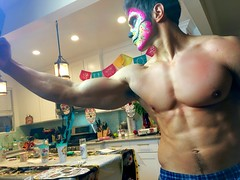 IMG_9926 (danimaniacs) Tags: shirtless hunk man guy mansolo chicosangels dukeshoman diadelosmuertos dayofthedead torso muscles pecs makeup