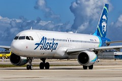 N625VA, Alaska Airlines, Airbus A320-214, KFLL, February 2018 (a2md88) Tags:
