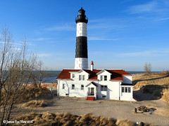 Big Sable Point (JamesEyeViewPhotography) Tags: bigsablepoint sky lighthouse sand beach clouds lake michigan lakemichigan trees winter water waves greatlakes nature landscape northernmichigan jameseyeviewphotography