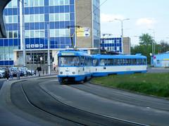 Ostrava tram No. 993, built mid 1980's (johnzebedee) Tags: tram transport publictransport vehicle ostrava czechrepublic johnzebedee tatra tatrat3