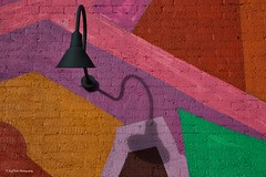 Lamp on A Painted Background (Kool Cats Photography over 10 Million Views) Tags: photography painting wall colorful textures artistic art abstract oklahomacity oklahoma