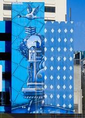 DSCN0952 (danimaniacs) Tags: christchurch newzealand street art blue