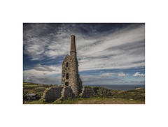 Cornish skies (silver/halide) Tags: johnbaker tinmine tin poldark carngalver westpenwith ruin historic enginehouse atlantic atlanticocean granite abandoned derelict sky cornwall
