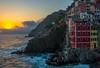 Italian Evening (Jon Ariel) Tags: riomaggiore cinqueterre italy italia mediterranean europe sea water sunset
