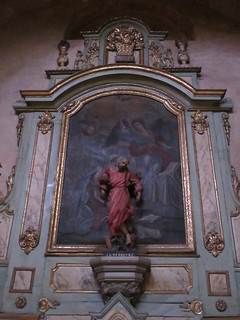 Jean-Gabriel Perboyre statue and painting, St. Stephen's Cathedral, Cahors, France