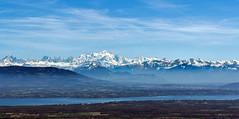 Le lac Léman et le mont blanc. (roland.grivel) Tags: lacléman montblanc hautesavoie 74 rhonealpes montagne