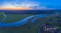 Pano image of Baarn in the Netherland. First flight in 2018 (Gooi en Eemland van Boven by Jacques de Kort) Tags: baarn eem sunset panorama pano sky netherlands river delta rivier
