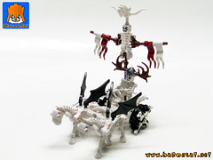 SKELETON CHARIOT (baronsat) Tags: lego moc custom skeleton chariot army game tabletop add workshop war undead magic