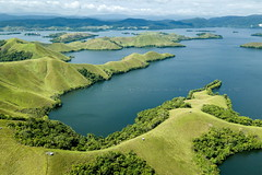 Sentani (Jokoleo) Tags: danau sentani jayapura papua indonesia lake green grass outdoors doyo sosiri landscape bay sky sea water forest field ngc tree aerial drone dji mavic