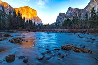 Merced River Sunset Yosemite
