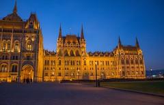Hungarian Parliament Building (Torok_Bea) Tags: hungarian parliament building budapest hungary parlament bluehour
