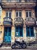 Vintage color (Tài Trần) Tags: motorcycle tracker caferacer yamaha balcony hanoi vintage retro