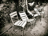 Jardin du Luxembourg chairs (Feldore) Tags: paris sepia jardin du luxembourg chairs vintage atget france french moody garden old feldore mchugh em1 olympus 1240mm