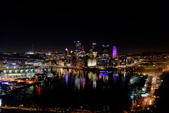 West End Overlook - Pittsburgh (Johnny Swanson) Tags: pittsburgh skyline landscape city three rivers allegheny ohio monongahela river reflections