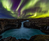 The Crown (Hilton Chen) Tags: iceland summer nightphotography landscape waterfall aldeyjarfoss twilight basaltcolumns auroraborealis northernlights northeasternregion is