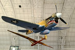 Curtiss P-40E Warhawk (Brian Aslak) Tags: curtissp40ewarhawk kittyhawkia stevenfudvarhazycenter smithsonianinstitution smithsoniannationalairandspacemuseum chantilly fairfaxcounty virginia usa unitedstates northamerica museum airplane aircraft