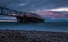 The Pier (free3yourmind) Tags: pier jetty sea long exposure clouds cloudy sunset kobuleti pebbles georgia morred dramatic sky d750