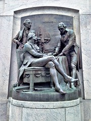 The Signing Of The Treaty  [from Fountain Of The Centaurs] (ArtFan70) Tags: thesigningofthetreaty signingofthetreaty karlbitter bitter adolphweinman weinman jeffersoncity missouri mo midwest unitedstates usa america art relief sculpture fountain missouristatecapitol missouristatehouse statehouse statecapitol thefountainofthecentaurs fountainofthecentaurs robertlivingston jamesmonroe françoisbarbémarbois livingston monroe barbémarbois f fran francoisbarbemarbois barbemarbois politics politician french france author writer louisianapurchase ventedelalouisiane treaty agreement foundingfather president americanpresident leader politicalleader leaders politicians americanrevolutionarywar warveteran revolutionarywar americanrevolution revolution democraticrepublican continentalarmy major militaryleader governor presidentjamesmonroe presidentmonroe govenorjamesmonroe governormonroe robertrobertlivingston foundingfathers lawyer attorney diplomat diplomacy law thechancellor chancellor committeeoffive declarationofindependence