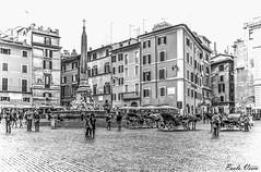Piazza della Rotonda (Pablos55) Tags: piazzadellarotonda piazza square fontana fountain gente people carrozzella cab