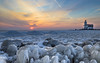 Winter Lighthouse Sunrise (mcalma68) Tags: het paard van marken netherlands winter sunrise ice lake seascape