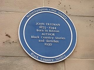 Bilston Town Hall - Church Street and Lichfield Street, Bilston - blue plaque - John Freeman