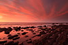 Fire In The Sky, But No Smoke on The Water (Darren Schiller) Tags: hallettcove adelaide beach southaustralia coast gulf rocks sunset clouds shore ocean sea