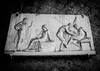 Telephus Relief, Herculaneum 1993 (bobbex) Tags: romanruins romansculpture rome classicalrome bw archaeology blackandwhite ercolano