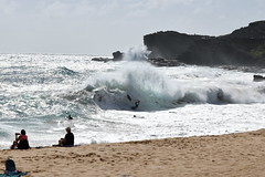 Sandy Beach Wipeout (trailwalker52) Tags: hawaii oahu sandybeach ocean shorebreak roughocean roughwaves bigwaves bigwave crashing dangerous wipeout