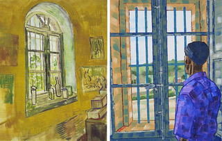 Vincent's Bedroom Window at the Saint Paul - Saint Remy by Van Gogh 1889 and Anthony D. Padgett 2017