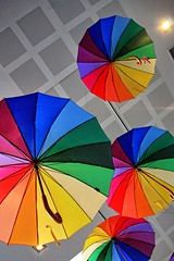 Umbrella's. (Ian Ramsay Photographics) Tags: narellan newsouthwales australia novel promote book colourful umbrealla hang foyer library depict great childrens marypoppins