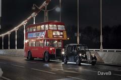 10th Feb 2018. London Buses (Dangerous44) Tags: old london red bus stl 441 rtl 139 wet night chelsea bridge