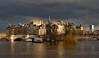 Paris / Ile de Cité / Flood of the Seine / 5 (Pantchoa) Tags: paris france seine eau nuages inondation janvier 2018 pont pontneuf architecture maisons bâtiments tourmontparnasse péniches bateaux arbre saulepleureur
