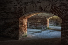 Fort Macon NC Arches 3 (Modkuse) Tags: arch brick nc arches fort fortmacon northcarolina history