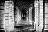 Certosa di Collegno (TO) (DoctorPitt) Tags: torino collegno certosa certosarealedicollegno fujifilm xt2 1855 portici biancoenero bw black white blackwhite geometria geometry architettura architecture